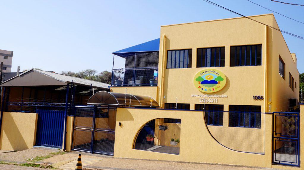 Fachada da Unidade 2 da Escola Infantil Paraíso em Campinas, São Paulo